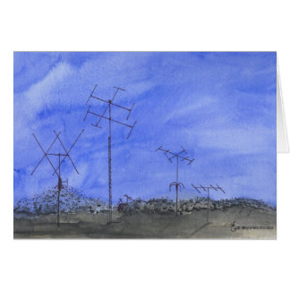 Antenna Farm At Dusk Card