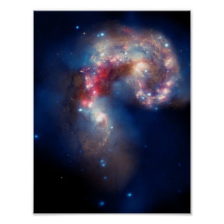 Antennae Galaxies Colorful Composite Poster