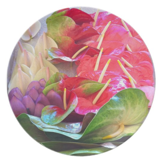 Anthiriums Plate