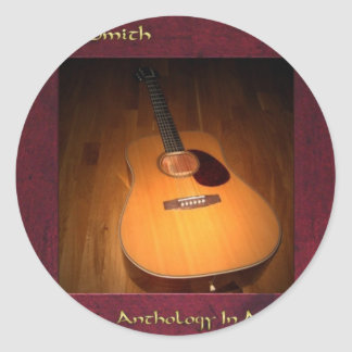 Anthology In Acoustic CD Cover Classic Round Sticker