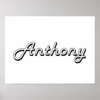 Anthony Classic Retro Name Design Poster