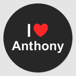 Anthony Classic Round Sticker