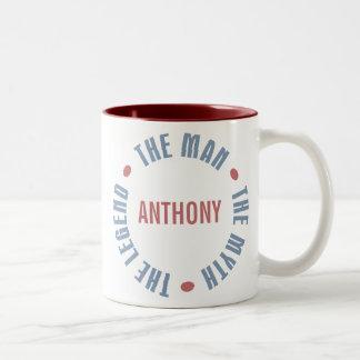 Anthony Man Myth Legend Customizable Two-Tone Coffee Mug