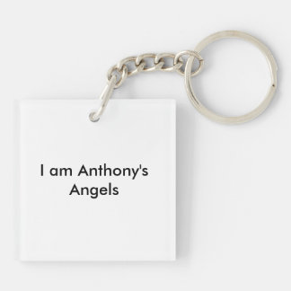 anthony mater Double-Sided square acrylic keychain