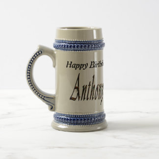 Anthony Name Logo, Beer Stein