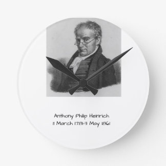 Anthony Philip Heinrich Round Clock