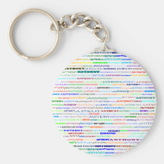 Anthony Text Design II Keychain