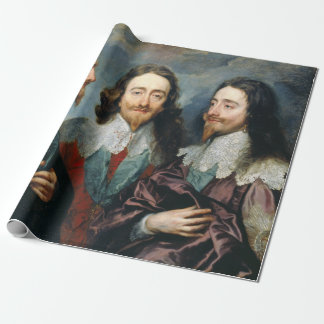 Anthony van Dyck Charles I in Three Positions Wrapping Paper