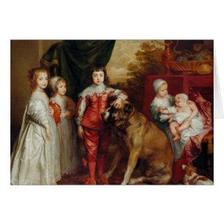 Anthony van Dyck- Five Eldest Children of Charles Card