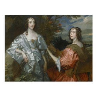 Anthony van Dyck - Katherine, Countess of... Postcard