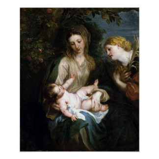 Anthony van Dyck Virgin and Child Saint Catherine Poster