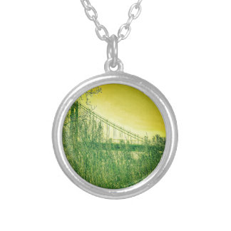 Anthony Wayne Bridge, Summer. Silver Plated Necklace