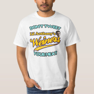 Anthony Weiner's Don't Tweet Your Meat T-Shirt