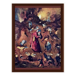 Anthony With Monsters. By Hieronymus Bosch Postcard