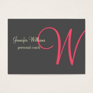 Anthrazite Minimalistic Monogram Business Card