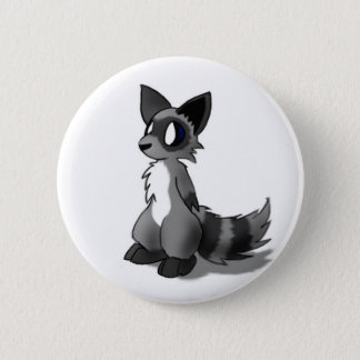 Anthro Raccoon Button