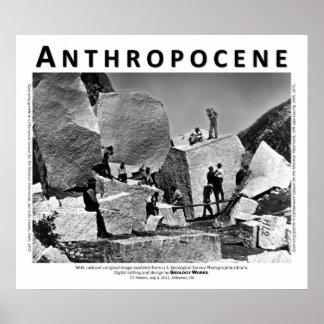 Anthropocene VI - Granite Quarry, Salt Lake County Poster