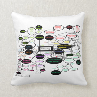 Anthropology Concept Map Pillow