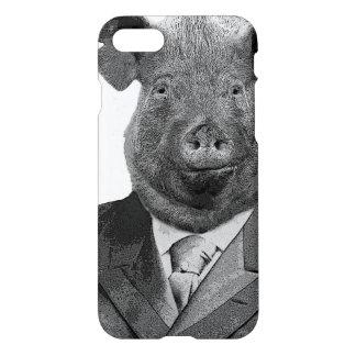 Anthropomorphic Pig Wearing Suit - iPhone 8/7 Case