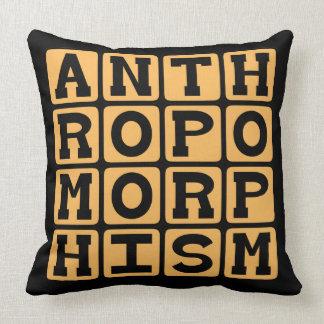 Anthropomorphism Imbuing Animals With Human Trait Throw Pillows