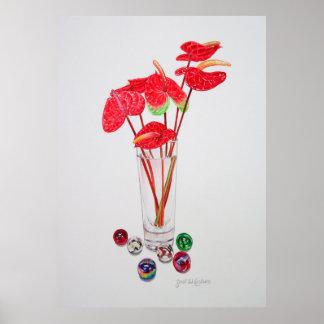 Anthurium Vase Poster