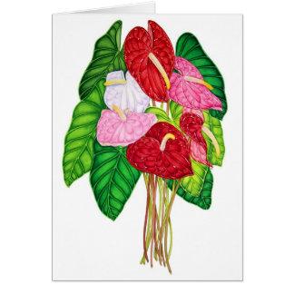 Anthuriums Card