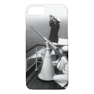 Anti-aircraft gun prcatice. Photo_War Image iPhone 7 Case