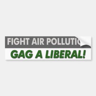"""Anti """"bâillon libéral de pollution atmosphérique d autocollant de voiture"""