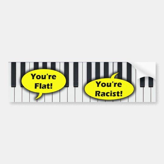Anti Barack Obama - Racism Bumper Sticker