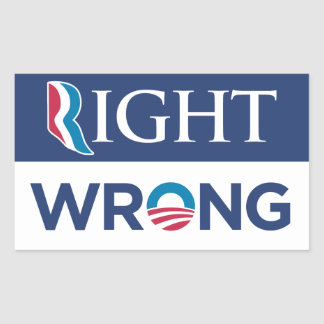 Anti Barack Obama Right Wrong Bumper Sticker Blue
