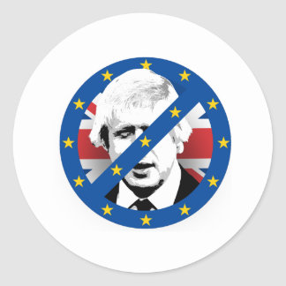 Anti Boris Johnson - -  Round Sticker