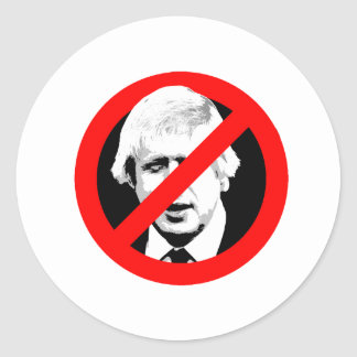 Anti Boris Johnson -- -  Round Sticker