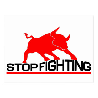 Anti Bullfighting Postcard