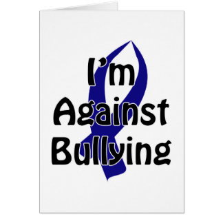 Anti-Bullying Blue Ribbon Card