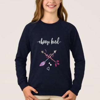 Anti Bullying, Choose Kind. Be Kind. Tribal Art Sweatshirt