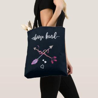 Anti Bullying, Choose Kind. Be Kind. Tribal Art Tote Bag