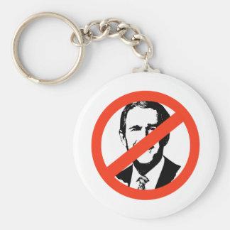 ANTI-BUSH - ANTI-George W Bush Basic Round Button Keychain