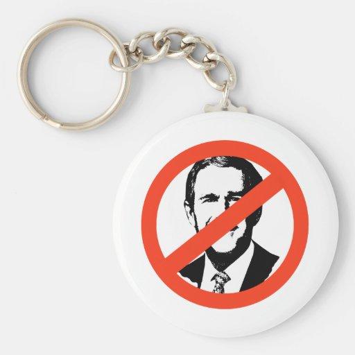 ANTI-BUSH - ANTI-George W Bush Key Chains