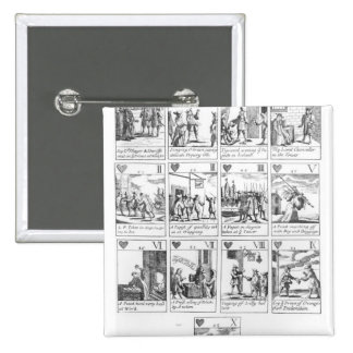Anti-catholic playing cards commemorating 2 inch square button