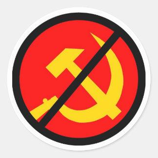 anti-communist classic round sticker