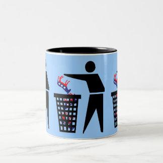 Anti democrats Two-Tone coffee mug