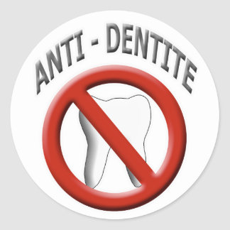 Anti Dentite Classic Round Sticker