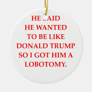 anti donald trump ceramic ornament