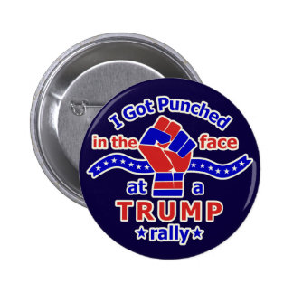 Anti Donald Trump Funny Punched in Face 2 Inch Round Button