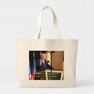 anti donald trump large tote bag