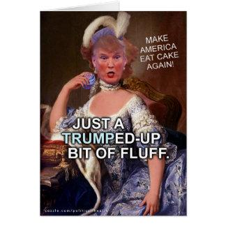 Anti Donald Trump Marie Antoinette 2016 Election Card