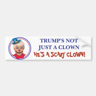 Anti Donald Trump Scary Clown Bumper Sticker