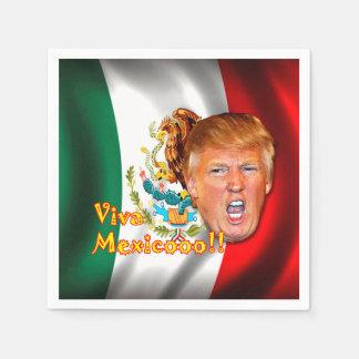 "Anti-Donald Trump ""Viva Mexico"" paper napkins. Paper Napkins"