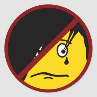 Anti EMO emoticon Sticker