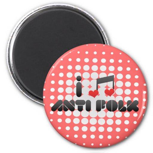 Anti Folk fan Fridge Magnets